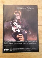 EARL SLICK (BOWIE) Framus Guitars UK magazine ADVERT/Poster/clipping 11x8 inches