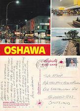 1988 MULTI VIEWS OF OSHAWA ONTARIO CANADA COLOUR POSTCARD