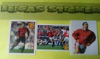Eric Cantona 3 stickers Manchester United 2006 Panini