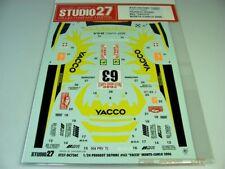 "1:24  Decals Studio27 - Peugeot 307 WRC ""Yacco"" Monte Carlo 2006"