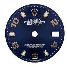 Rolex Ladies President 69179 Model White Gold Watch 26mm Blue MOP Diamonds Bezel