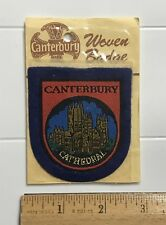 NIP Canterbury Cathedral Church England UK Souvenir Felt Patch Badge
