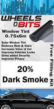 Window Tint 20% Foncé Fumée Solaire Film UV Isolation Fits Honda Jazz CRV CRX