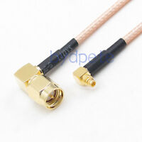 SMA male to MMCX male double right angle connector RG316 RF Pigtail Coax Cable