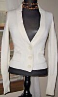 American Eagle Outfitters Women's Sweater Button Cardigan Beige size Small EUC