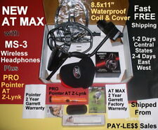 New Garrett At Max Metal Detector with Pro Pointer At Z-Lynk 1-3 Day Delivery