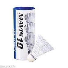 NEW YONEX MAVIS10 BADMINTON SHUTTLECOCKS NYLON WHITE MEDIUM TUBE OF 3
