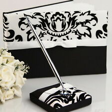 Black and White Wedding Guest Sign in MessagesRegister Book Pen Set  70+ Pages