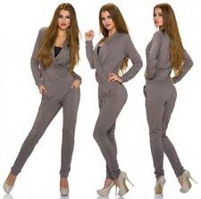 Damen-Overalls mit V-Ausschnitt aus Baumwollmischung in Größe 38