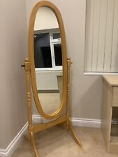 Wooden full length cheval mirror