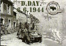 WW2 - CP - D.DAY 6.6.1944 - Paras US à bord d'un véhicule allemand