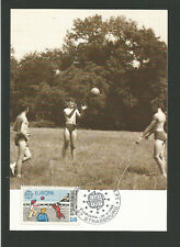 jeux d'enfants France EUROPA 1989 oblit. 1er jour Paris carte maximum / TR3397