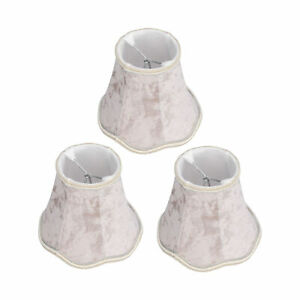 3X Clip‑On Lampshades Modern E14 Chandelier Table Lamp Shade Acc For Hotel Cl LF