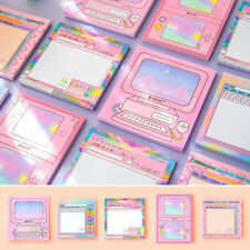 """""""Pink Girl"""" Pack of 5 Sticky Notes Stickers Memo Cute Adhesive Pads Freenote"""