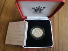 More details for 2000 piedfort silver proof one pound £1 coin - 19g