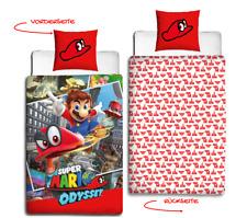 Nintendo super Mario Odyssey Flanell Kinder Bettwäsche 2 Tlg 80x80 135x200 Cm