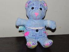 "Vintage Mini Miniature Doodle Bear Blue Denim Tyco 1995 7"""
