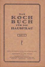 DAS KOCHBUCH FÜR DIE HAUSFRAU HEFT 1/2 - E. NIKI HAUSHALTUNGSKURSE BIEL SCHWEIZ