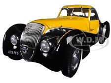 1937 PEUGEOT 302 DARL MAT COUPE BLACK/YELLOW 1/18 DIECAST MODEL BY NOREV 184716