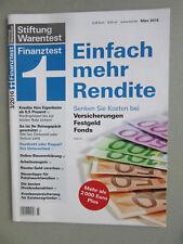 Finanztest Heft 3/2016 Stiftung Warentest März 2016