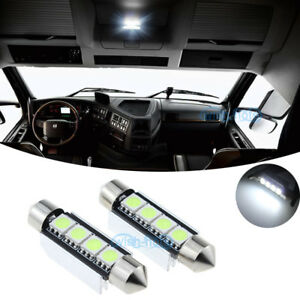 LED Bulb Bright White For Kenworth T660 T600 T2000 Interior Dome Lights Pair