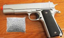 M1911 Replica Handgun Full Metal Silver Airsoft Pistol 2000 PC BB COMBO DEAL