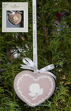 WEDGWOOD PINK JASPER WARE BREAST CANCER ORNAMENT CHRISTMAS TREE BAUBLE