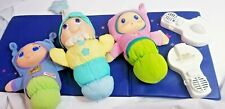 Playskool 1990 + Puffalump Glow Worm Plush Doll light up sleep Vtg baby toy Lot