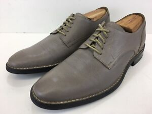 Cole Haan Air Canton Ironstone Grey Leather Plain Toe Lace Up Mens Size 11 M