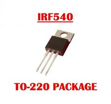 IRF540 N-CHANNEL POWER MOSFET  TRANSISTOR (QTY 10) *** NEW ***