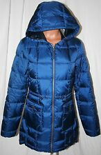 EDDIE BAUER GOOSE DOWN Super Sweater Parka BLUE S 550FP $199 TRENCH COAT