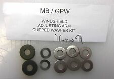 Army WWII Jeep MB GPW A2493K Windshield Adjusting Arm Kit w/ Cupped Washer, G503