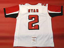 MATT RYAN AUTOGRAPHED ATLANTA FALCONS W JERSEY JSA READ NOTE COLOR RUN DAMAGE