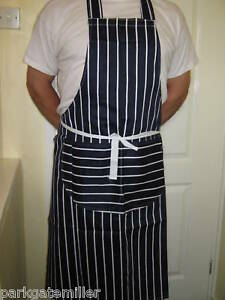 Professional Chefs Striped Apron 3 Colours Cooks Apron FREE P&P GREAT VALUE