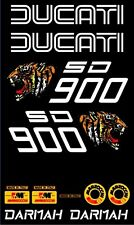 Ducati SD900 Darmah Full resto decal set with stripes whale tail/ducktail rear