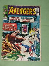 """AVENGERS # 18, 1965, :When The Commisar Commands!"""", Kirby Cover, Very Good Minus"""