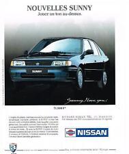 PUBLICITE  1991   NISSAN  SUNNY