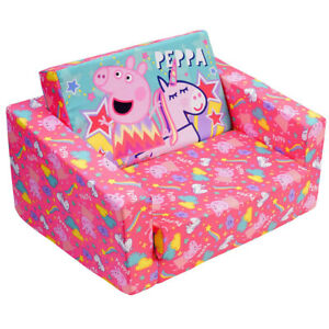 Peppa Pig 60cm Flip Out Home Sofa/Couch/Chair Kids/Children Furniture Pink