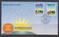 Philippine Stamps 1999 Third Asean Informal Summit Complete set on FDC