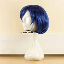 Sailor Mercury Mizuno Ami short blue bob cosplay costume wig. UK SELLER