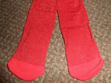 BNWOT new Girls george glittery red party Tights 11-12 YEARS