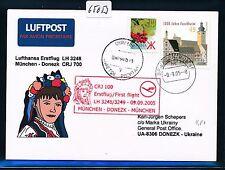 65053) LH FF München - Donezk Ukraine 9.9.2005, sp card