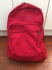 Red Jansport Backpack Book Bag Back Pack Laptop School