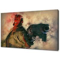 HELLBOY CANVAS PRINT PICTURE WALL ART FREE FAST POSTAGE VARIETY OF SIZES