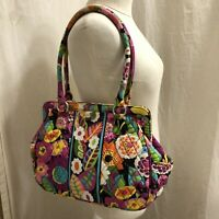 Vera Bradley Frame Bag Va Va Bloom Shoulder 2-Handle Purse Floral Flowers