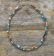 Natural Stones Raw Rough Agate Jasper Choker Necklace Gold Layered beaded Beads