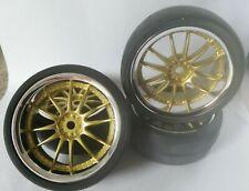 RC Car 1/10 26mm 3mm OFFSET Wheel Rubber SLICK Tyre Tire 12 Spoke fits Tamiya GD