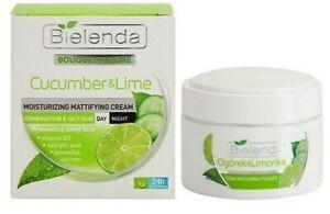 Bielenda Cucumber & Lime Mattifying Face Cream Mixed Oily Skin Day/Night 50ml