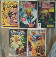 The Ferret Comic Lot of 5 (#1 , 2, 3, 4, 6) - Malibu- Near Mint Bagged & Boarded