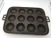 Vintage 12 Muffin Mold Cast Iron